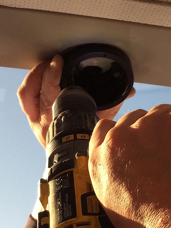 Vehicle CCTV Installation process (step 3)