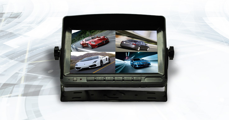 1CH – 7 inch HD vehicle camera monitors – 800×480 RGB resolution – VGA output